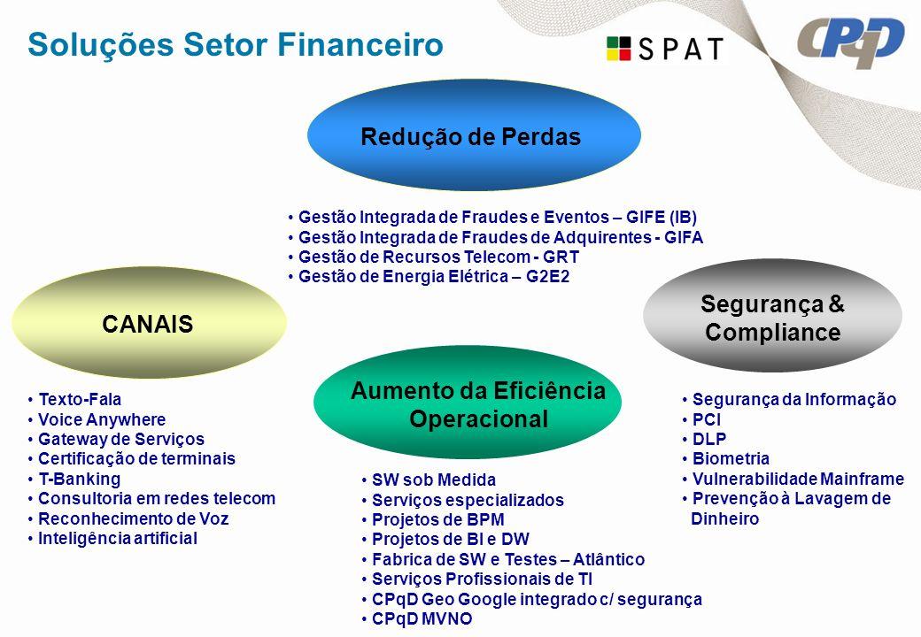 Segurança & Compliance Aumento da Eficiência Operacional