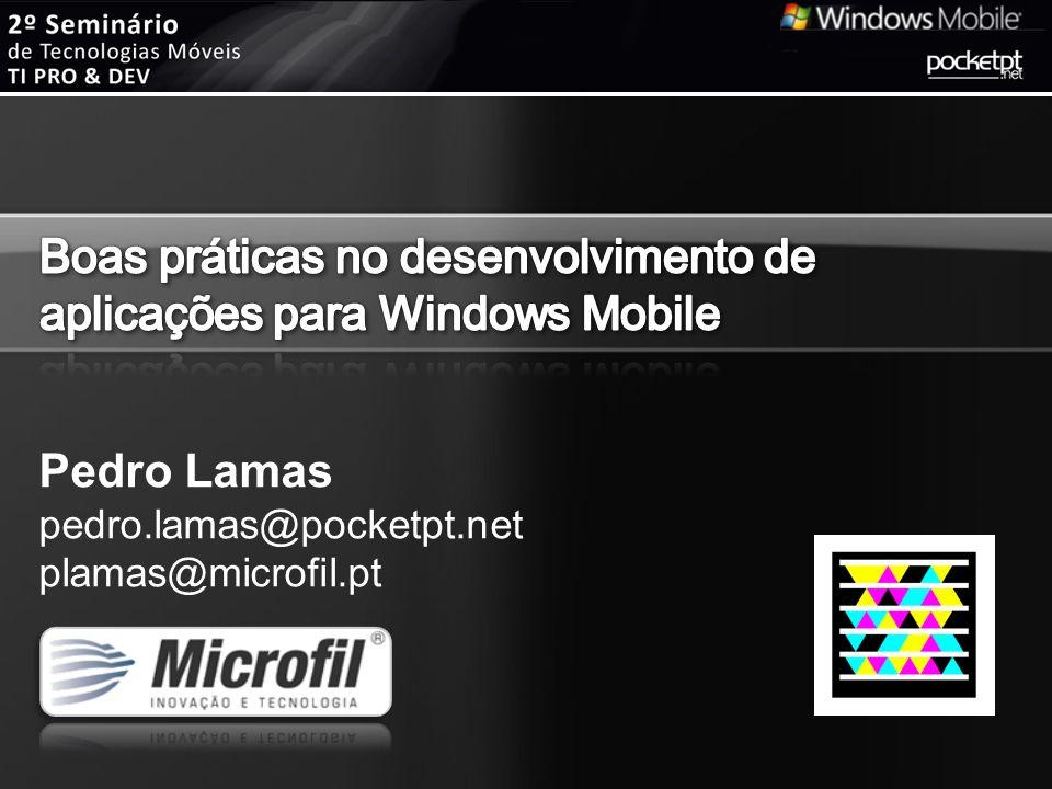 Boas práticas no desenvolvimento de aplicações para Windows Mobile