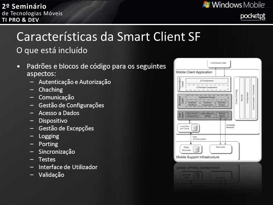 Características da Smart Client SF O que está incluído