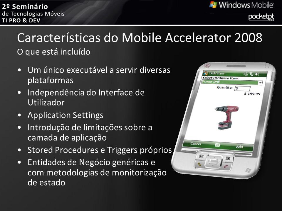 Características do Mobile Accelerator 2008 O que está incluído