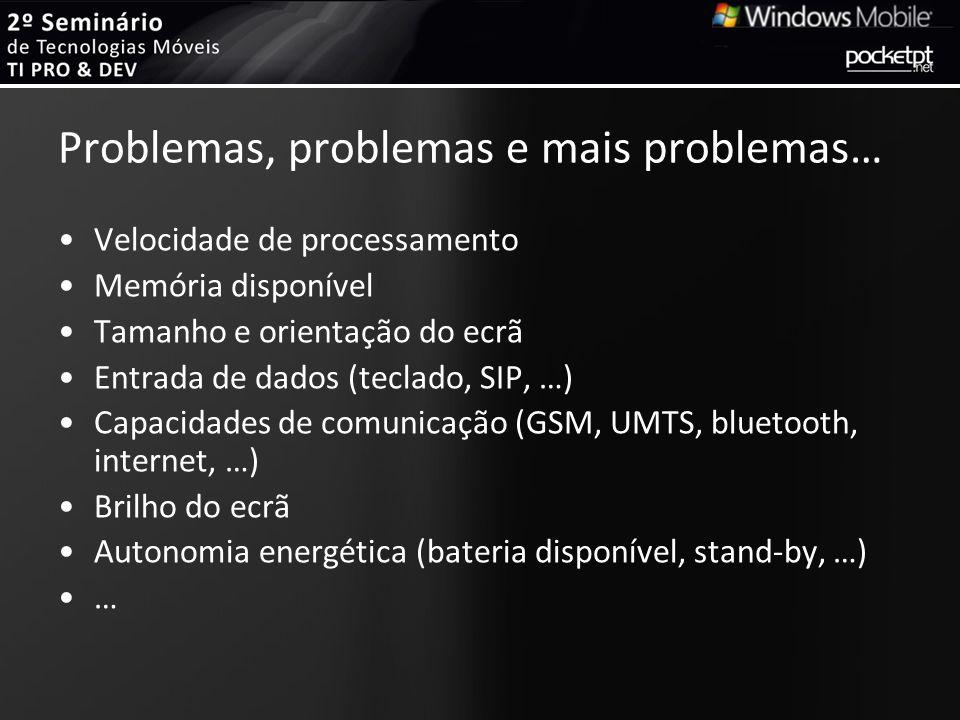 Problemas, problemas e mais problemas…