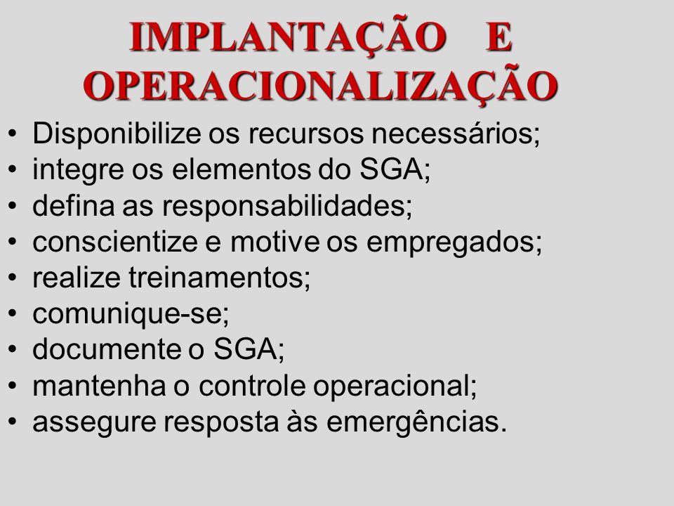 IMPLANTAÇÃO E OPERACIONALIZAÇÃO