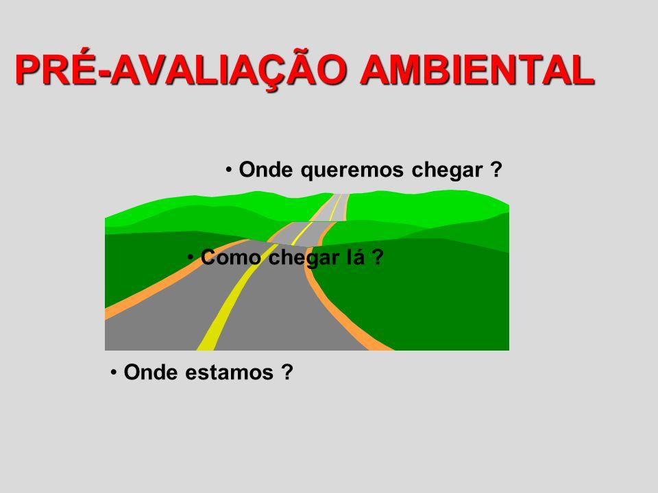 PRÉ-AVALIAÇÃO AMBIENTAL