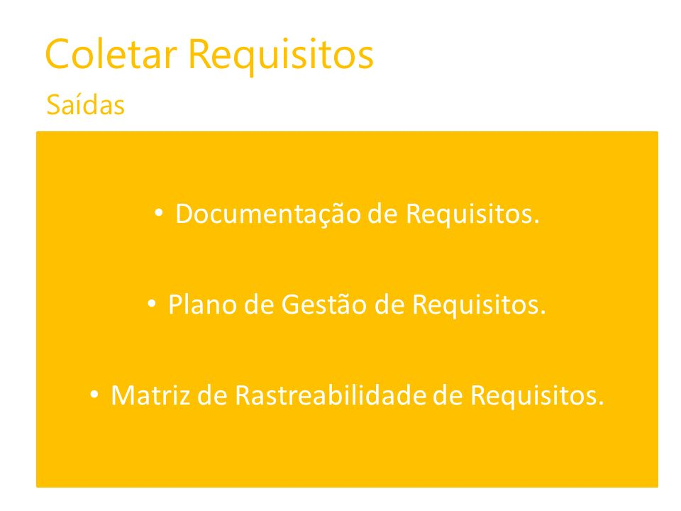Coletar Requisitos Documentação de Requisitos.