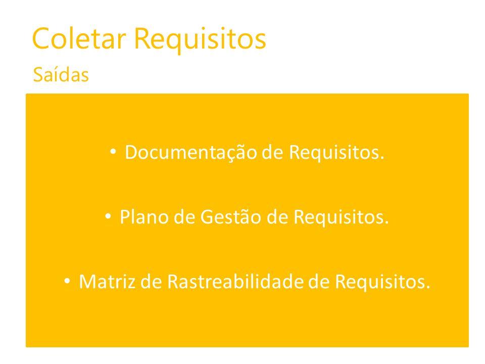 Coletar Requisitos Documentação de Requisitos.