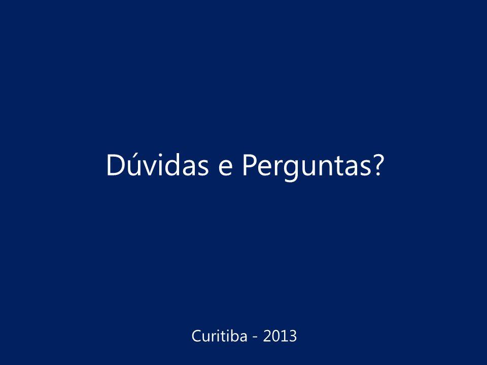 Dúvidas e Perguntas Curitiba - 2013