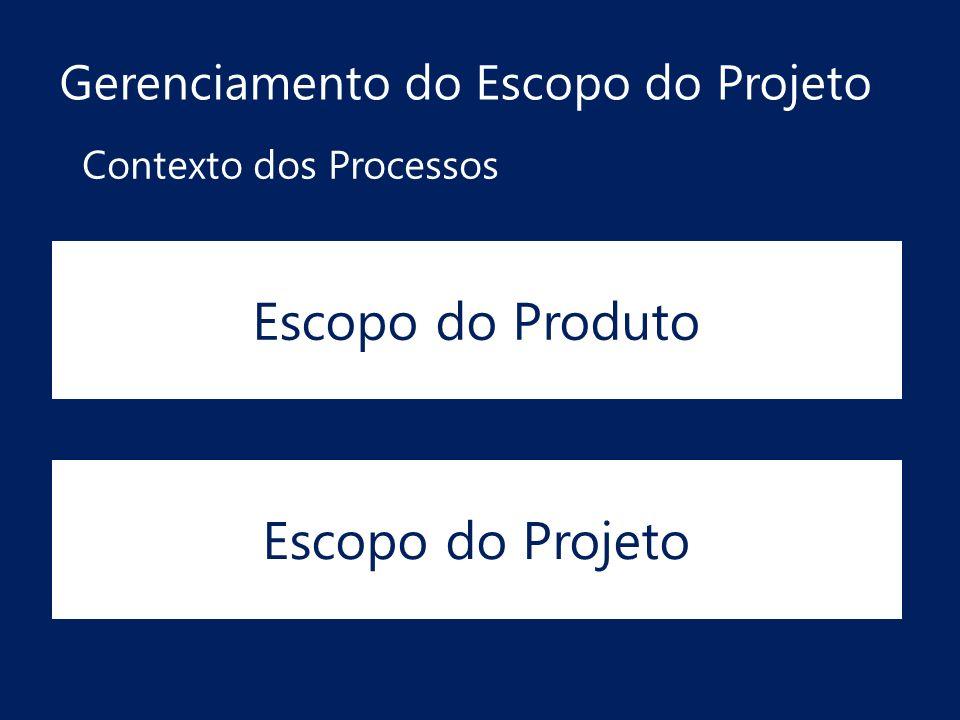 Escopo do Produto Escopo do Projeto Gerenciamento do Escopo do Projeto