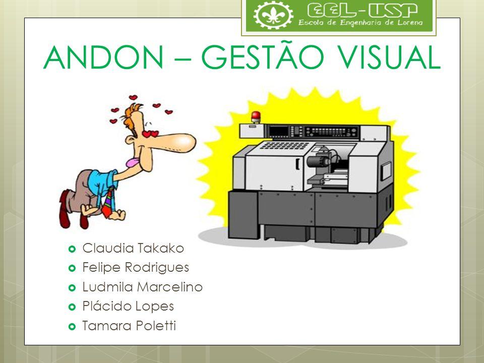 ANDON – GESTÃO VISUAL Claudia Takako Felipe Rodrigues