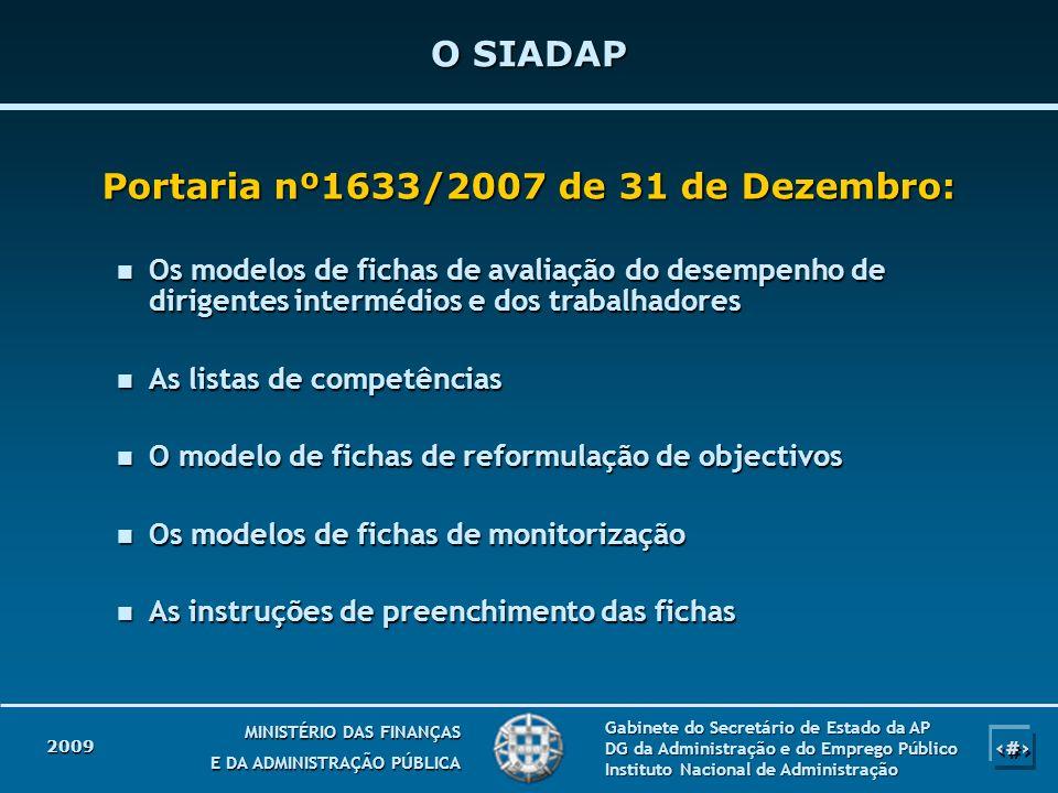 Portaria nº1633/2007 de 31 de Dezembro: