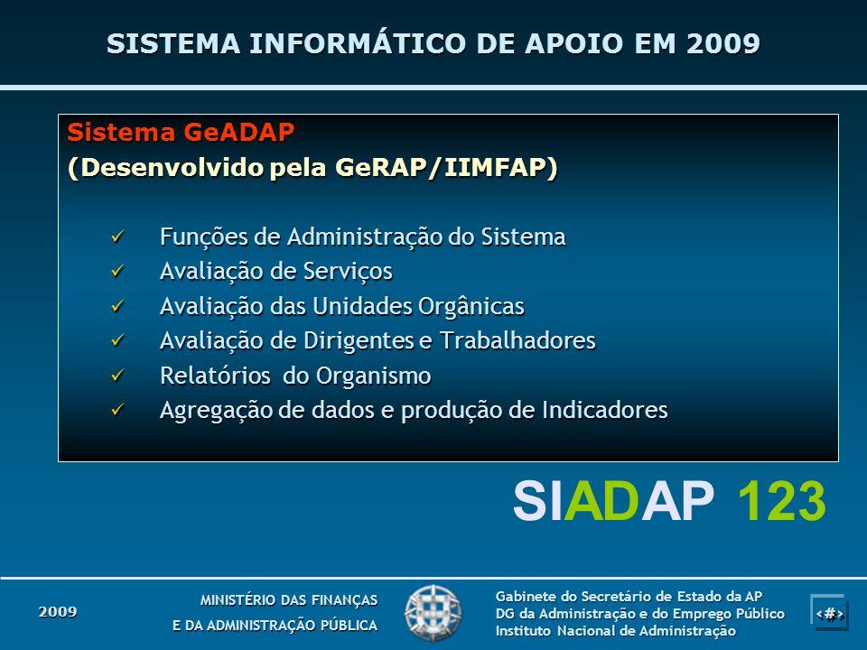 SISTEMA INFORMÁTICO DE APOIO EM 2009