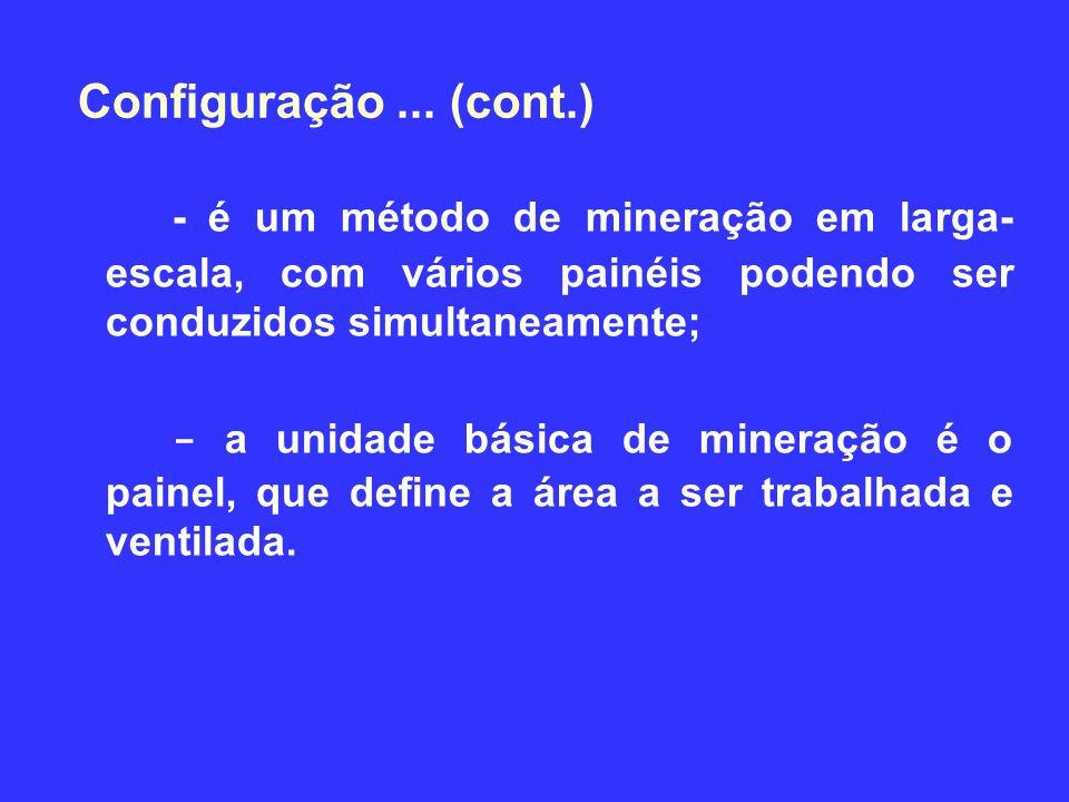 3/30/2017 Configuração ... (cont.) - é um método de mineração em larga-escala, com vários painéis podendo ser conduzidos simultaneamente;