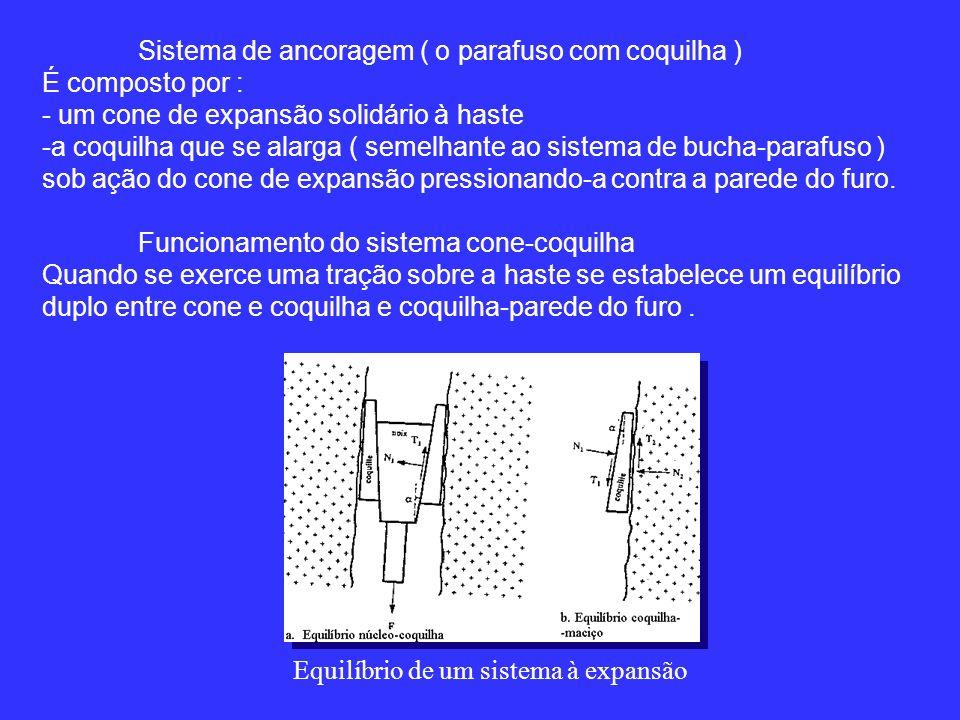Sistema de ancoragem ( o parafuso com coquilha )