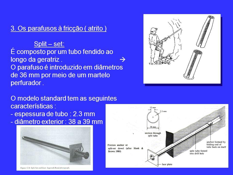 3. Os parafusos à fricção ( atrito )