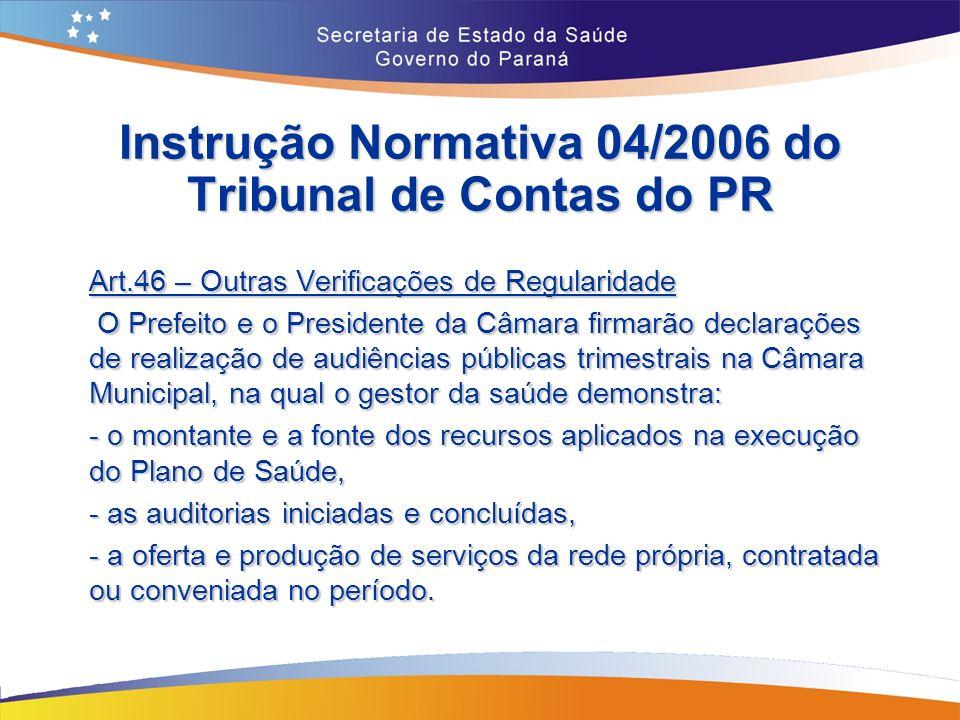 Instrução Normativa 04/2006 do Tribunal de Contas do PR