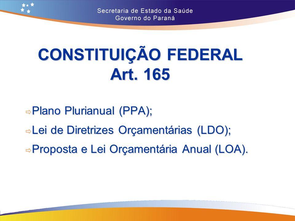 CONSTITUIÇÃO FEDERAL Art. 165