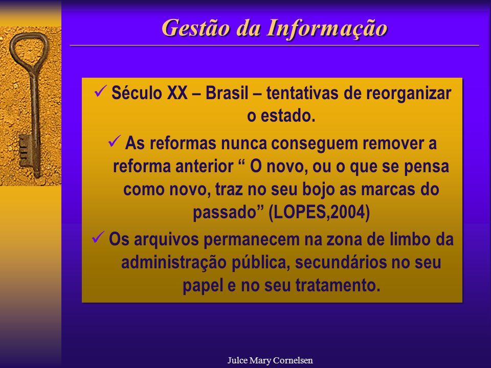 Século XX – Brasil – tentativas de reorganizar o estado.