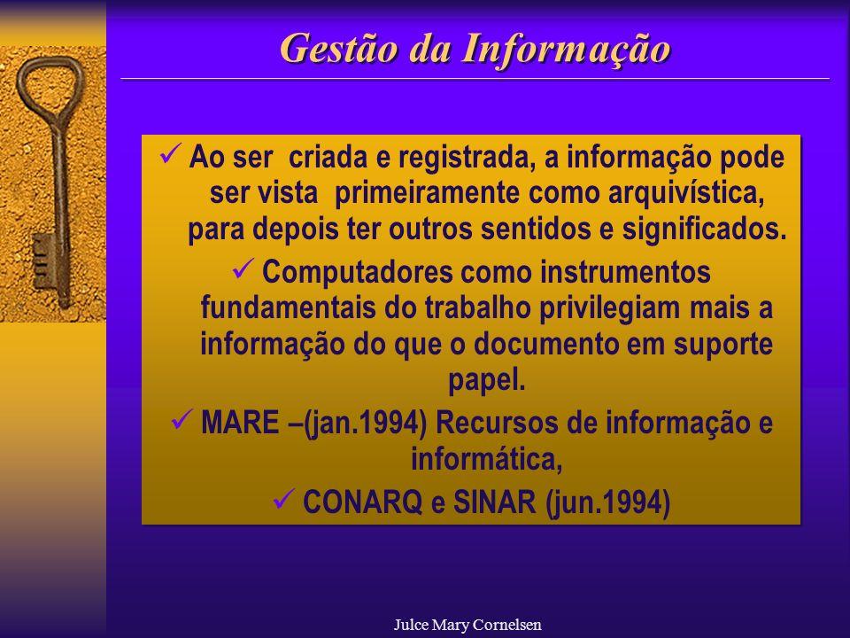 MARE –(jan.1994) Recursos de informação e informática,