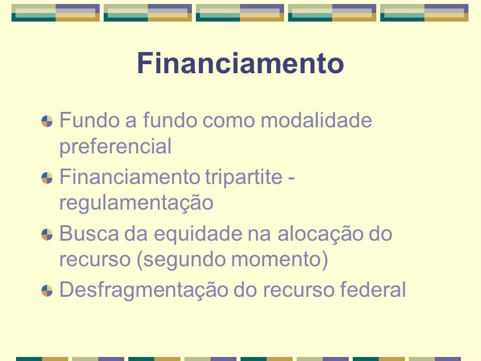 Financiamento Fundo a fundo como modalidade preferencial