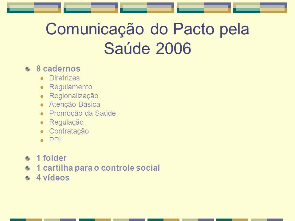 Comunicação do Pacto pela Saúde 2006