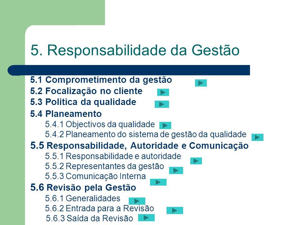 5. Responsabilidade da Gestão