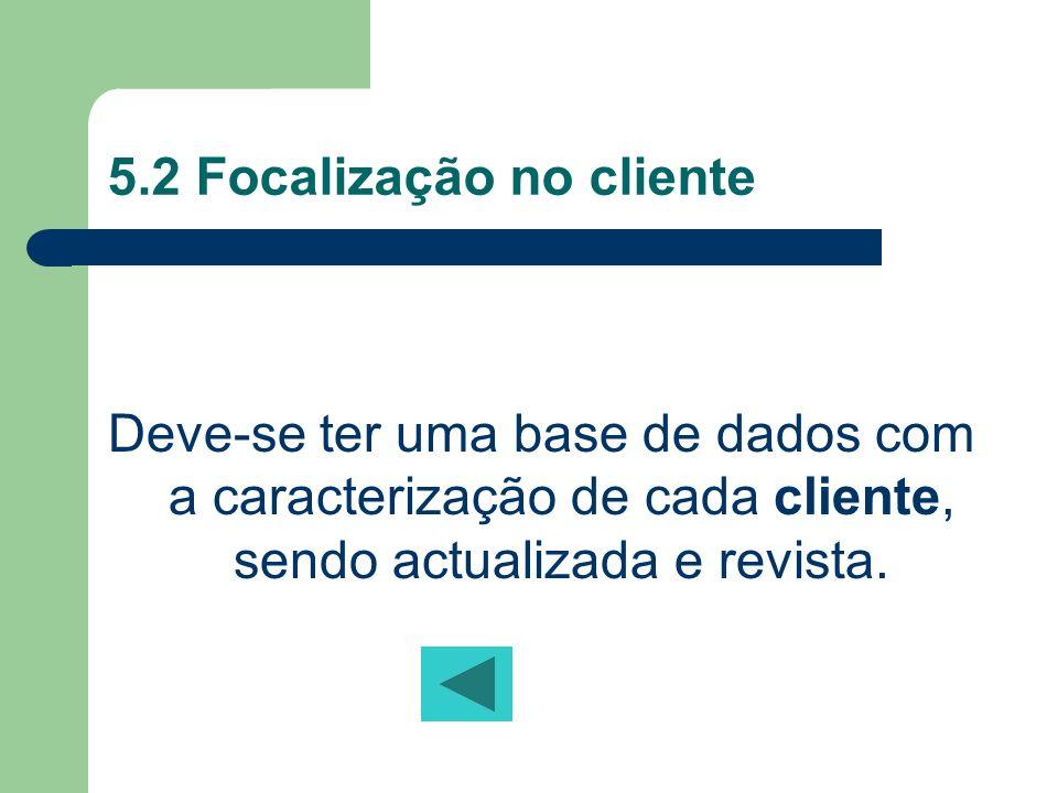 5.2 Focalização no cliente
