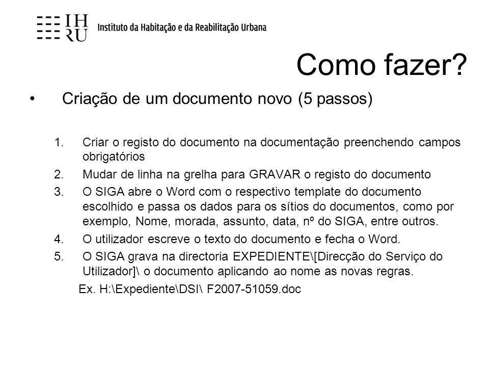 Como fazer Criação de um documento novo (5 passos)