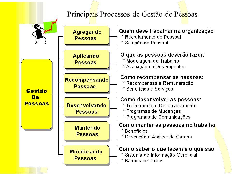 Principais Processos de Gestão de Pessoas
