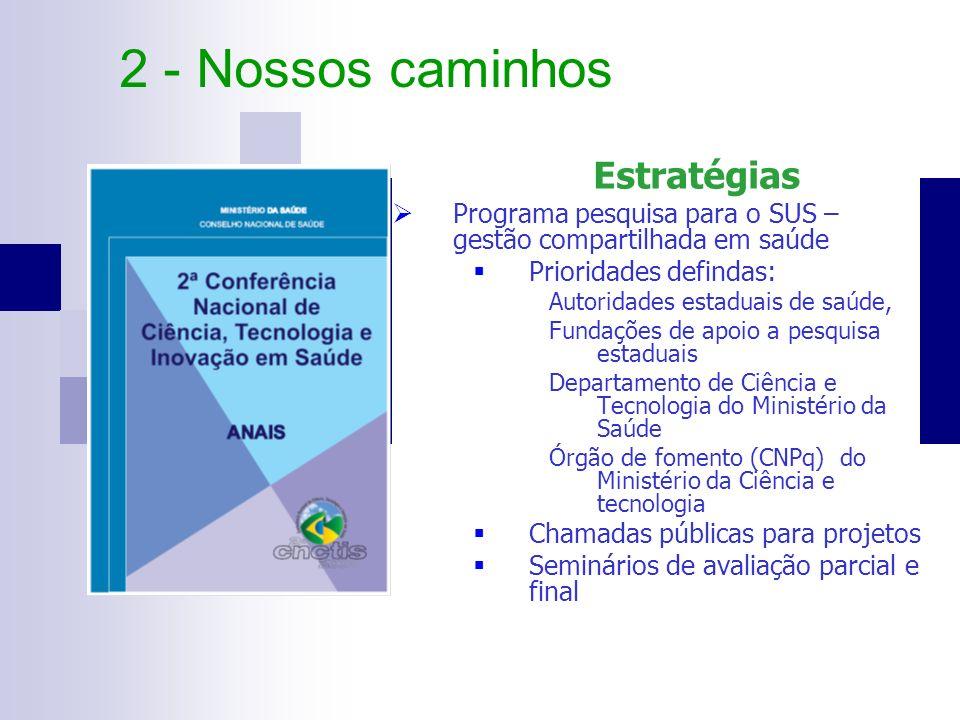2 - Nossos caminhos Estratégias