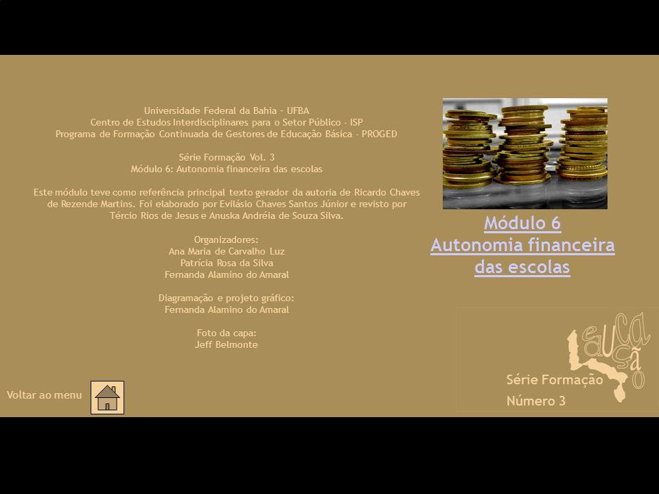 Autonomia financeira das escolas
