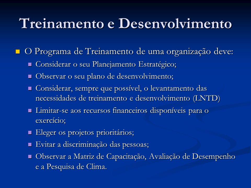 Treinamento e Desenvolvimento