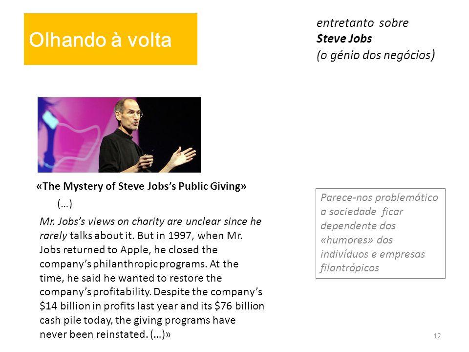 entretanto sobre Steve Jobs (o génio dos negócios)