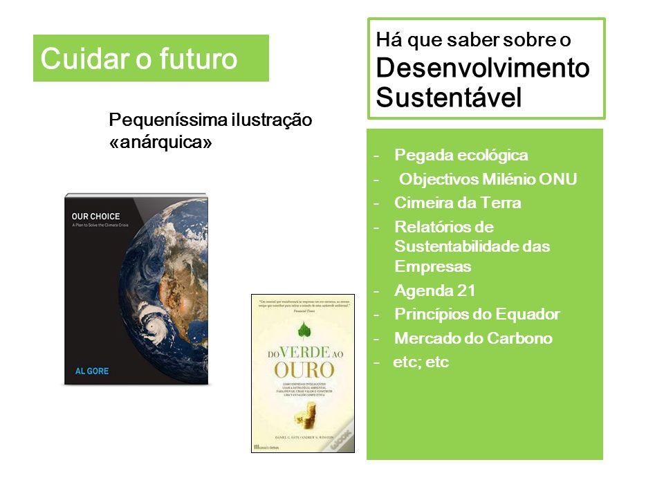 Cuidar o futuro Há que saber sobre o Desenvolvimento Sustentável
