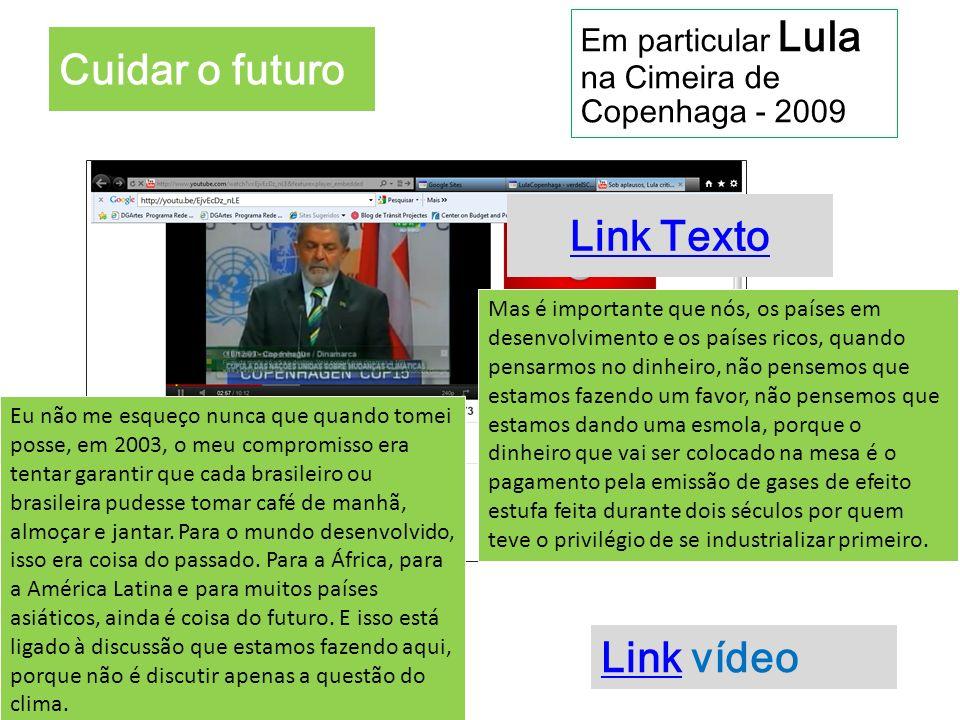 Cuidar o futuro Link Texto Link vídeo