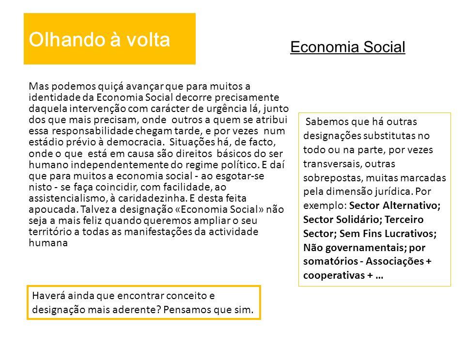 Olhando à volta Economia Social
