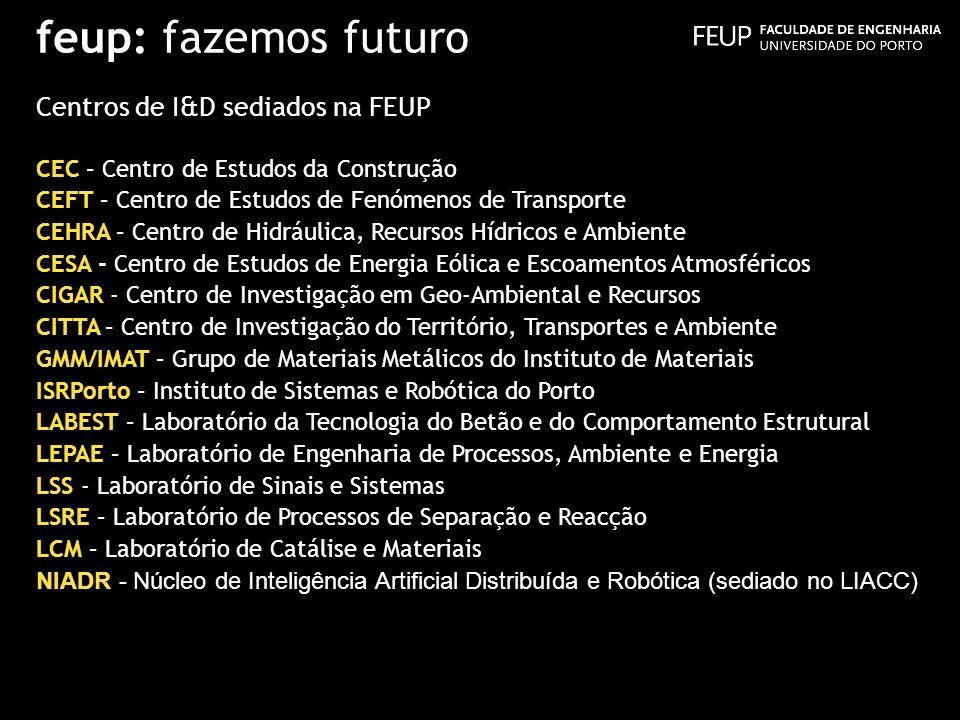 feup: fazemos futuro Centros de I&D sediados na FEUP