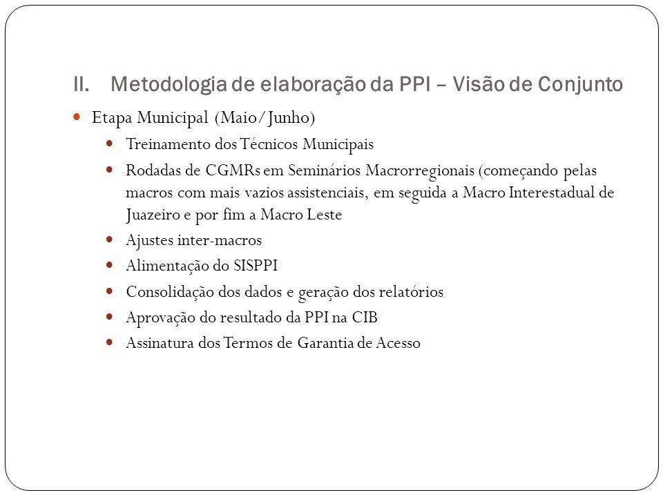 Metodologia de elaboração da PPI – Visão de Conjunto
