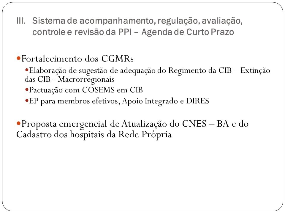 Fortalecimento dos CGMRs