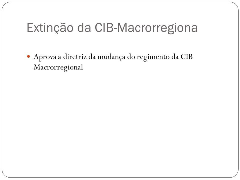Extinção da CIB-Macrorregiona