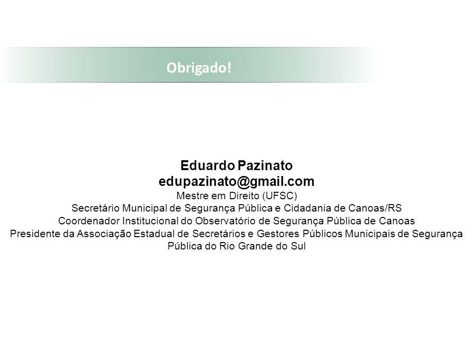 Obrigado! Eduardo Pazinato edupazinato@gmail.com