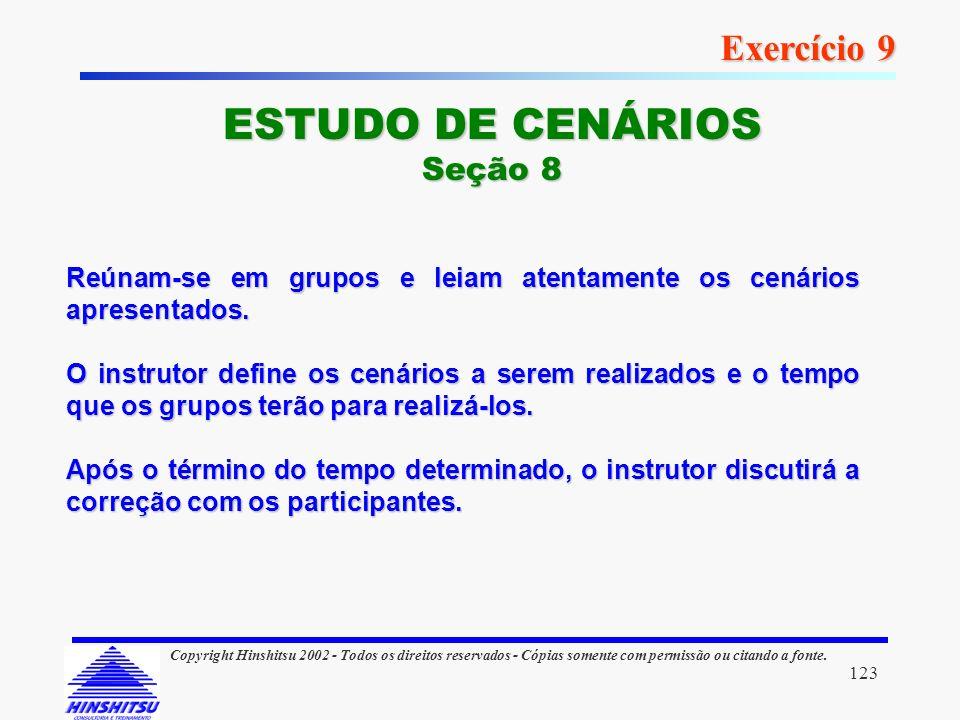ESTUDO DE CENÁRIOS Exercício 9 Seção 8