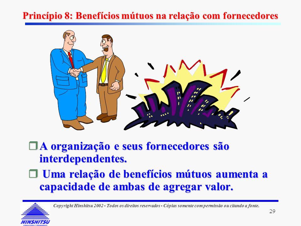 Princípio 8: Benefícios mútuos na relação com fornecedores