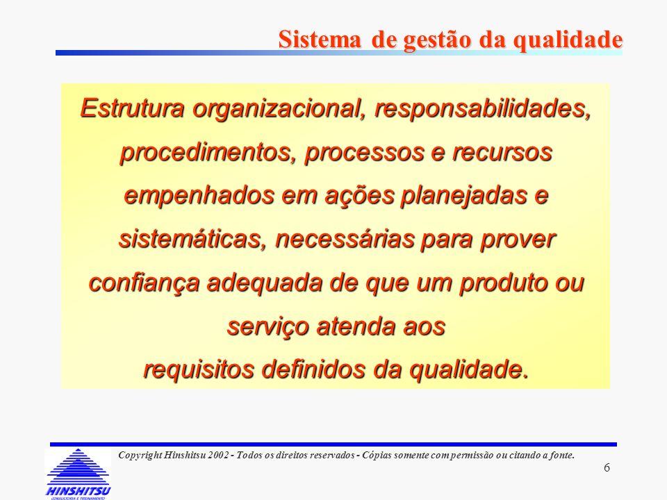 requisitos definidos da qualidade.