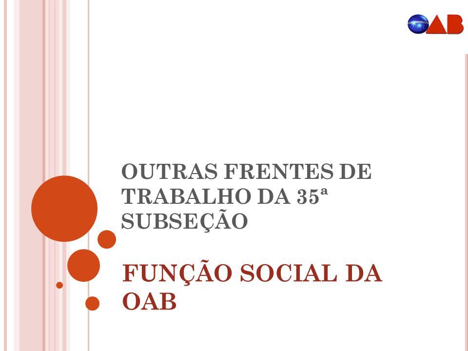 OUTRAS FRENTES DE TRABALHO DA 35ª SUBSEÇÃO
