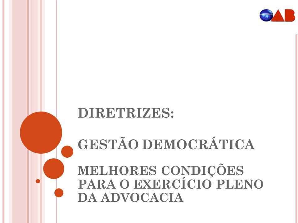 DIRETRIZES: GESTÃO DEMOCRÁTICA