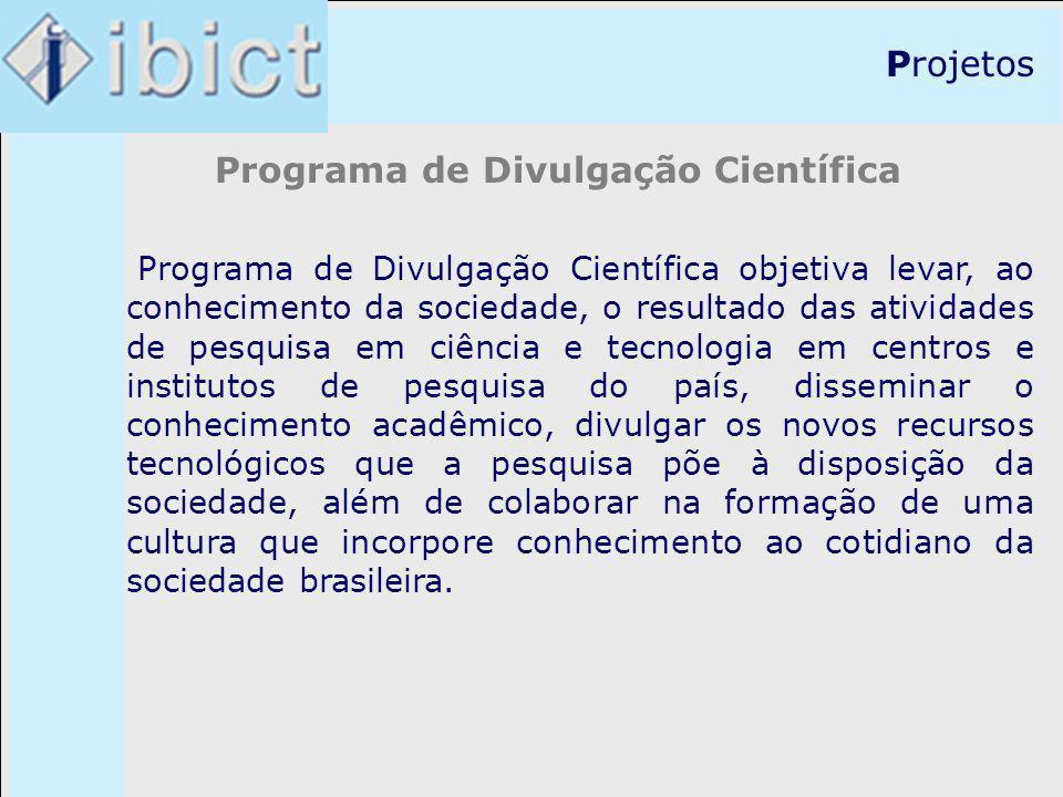 Programa de Divulgação Científica