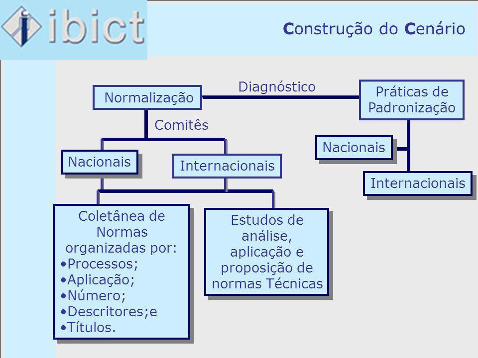 Construção do Cenário Diagnóstico Práticas de Normalização Práticas de