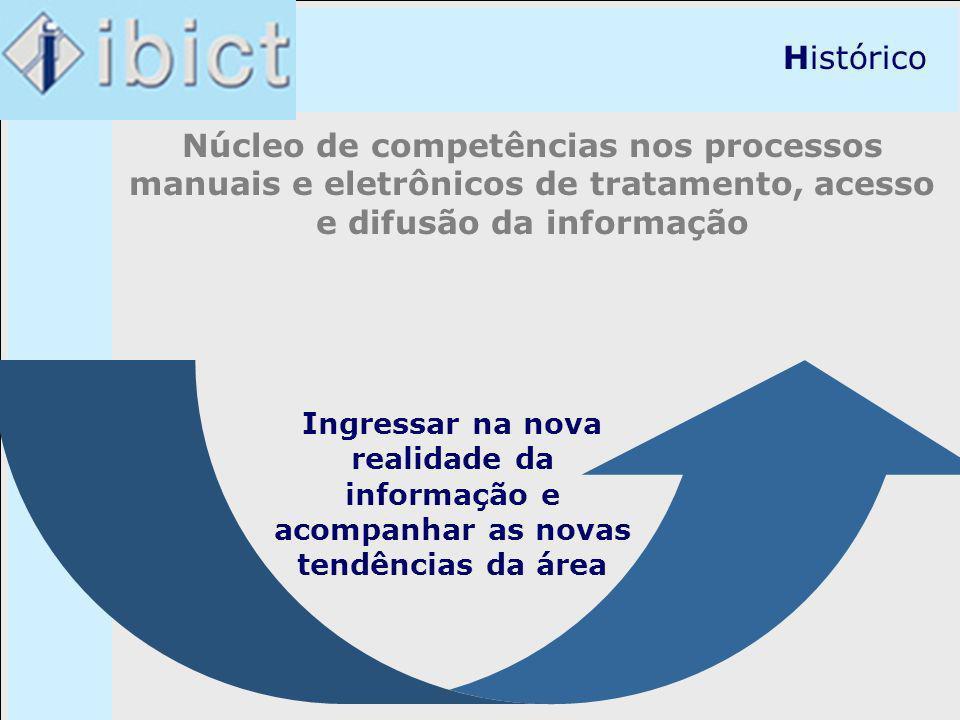 Histórico Núcleo de competências nos processos manuais e eletrônicos de tratamento, acesso e difusão da informação.