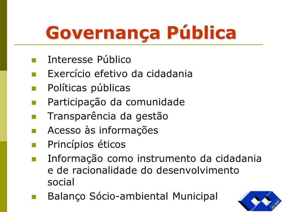 Governança Pública Interesse Público Exercício efetivo da cidadania