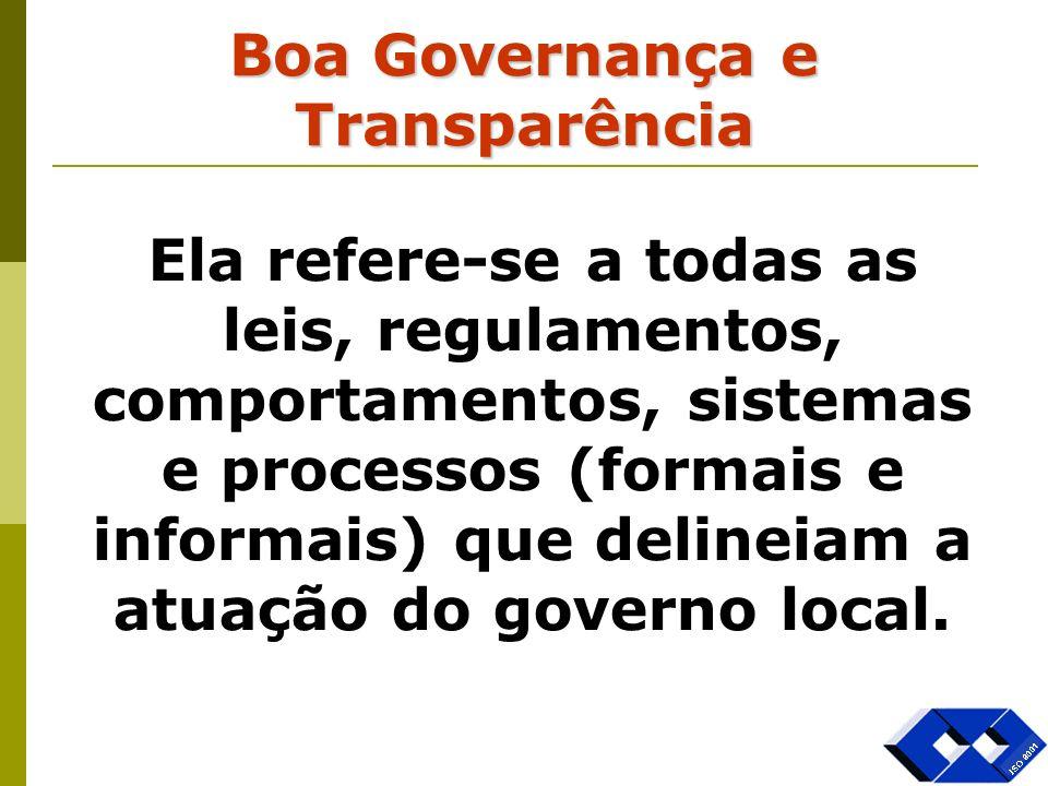 Boa Governança e Transparência