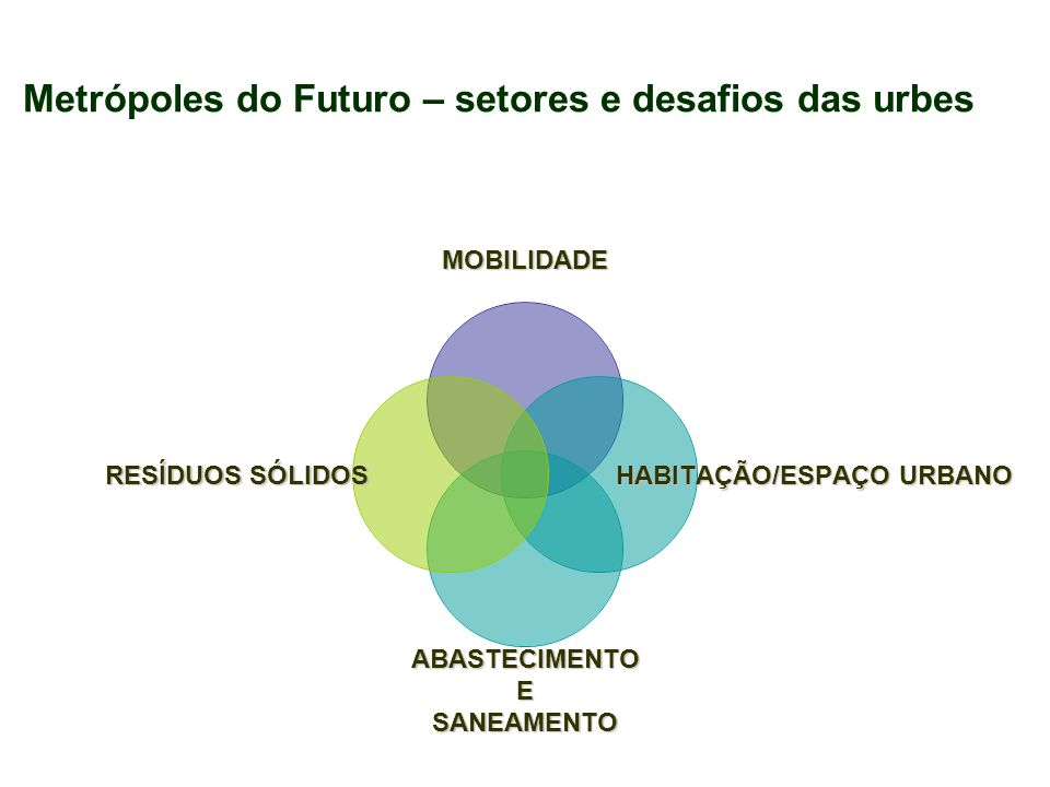 Metrópoles do Futuro – setores e desafios das urbes